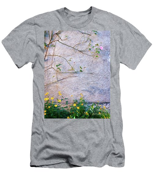 Men's T-Shirt (Athletic Fit) featuring the photograph Rose And Yellow Flowers by Silvia Ganora