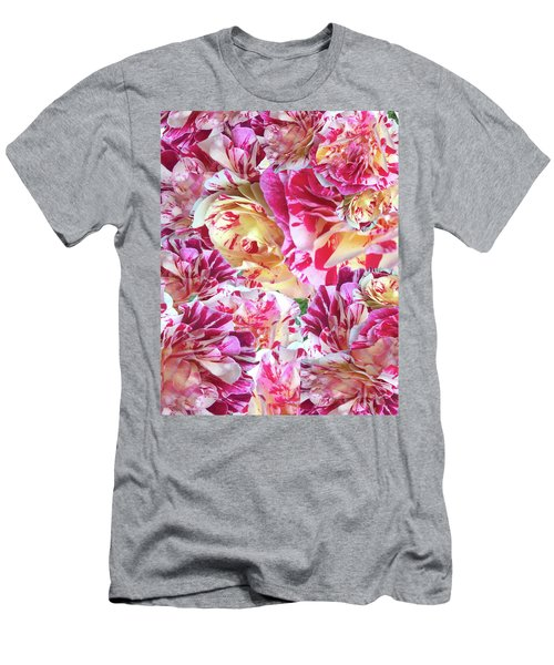 Rose Collage Men's T-Shirt (Athletic Fit)