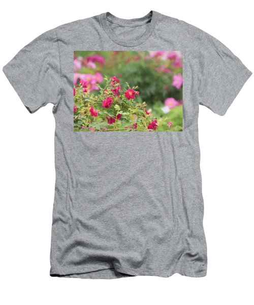 Men's T-Shirt (Athletic Fit) featuring the photograph Rose Garden Promise by Kim Hojnacki