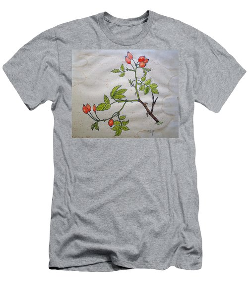 Rose Hip Men's T-Shirt (Slim Fit) by Thomas M Pikolin