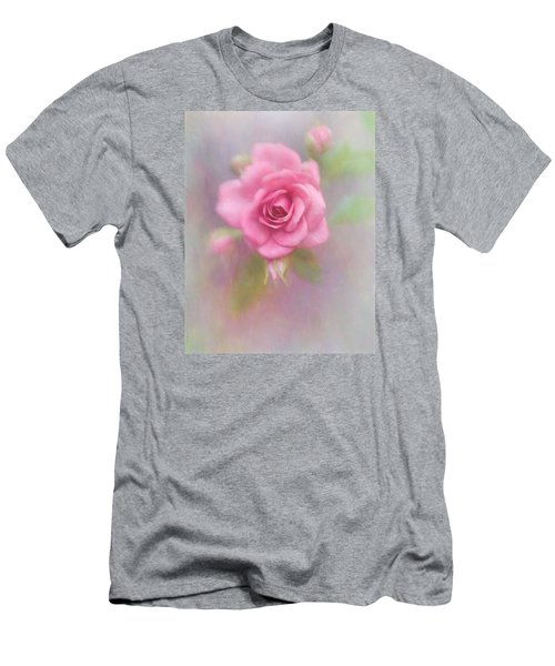 Rose Of Pink Men's T-Shirt (Slim Fit) by David and Carol Kelly
