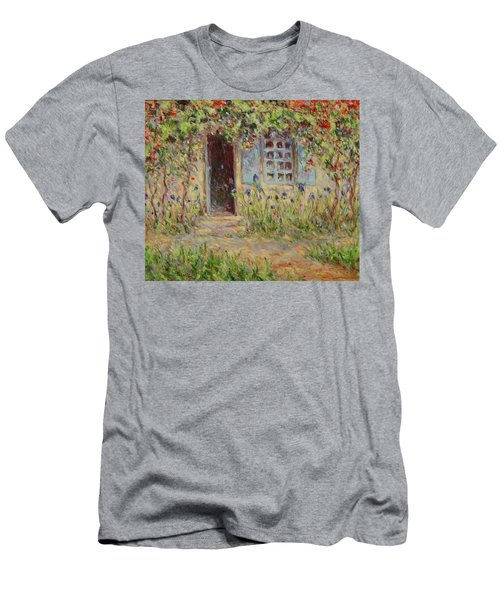 Rose Trees At The Front Of The House Men's T-Shirt (Athletic Fit)