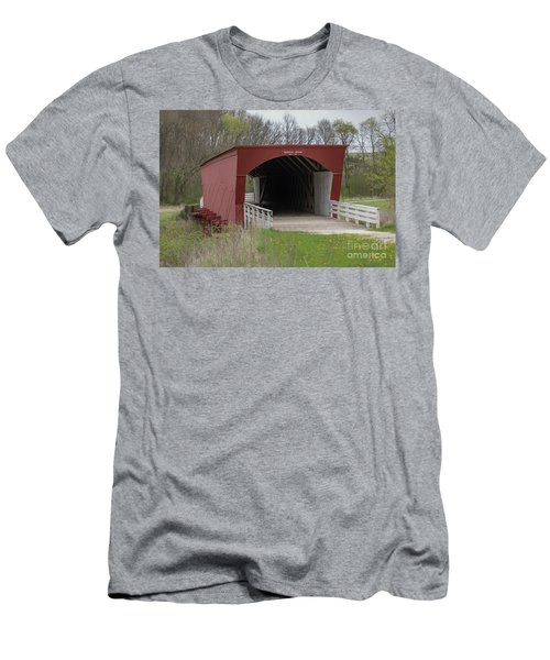 Roseman Covered Bridge - Madison County - Iowa Men's T-Shirt (Athletic Fit)