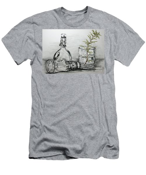 Men's T-Shirt (Slim Fit) featuring the drawing Rosemary by Terri Mills