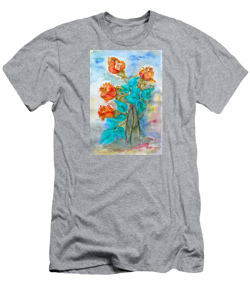 Roses Buds Men's T-Shirt (Athletic Fit)