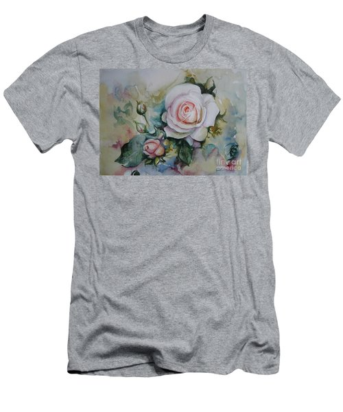 Men's T-Shirt (Slim Fit) featuring the painting Roses by Elena Oleniuc
