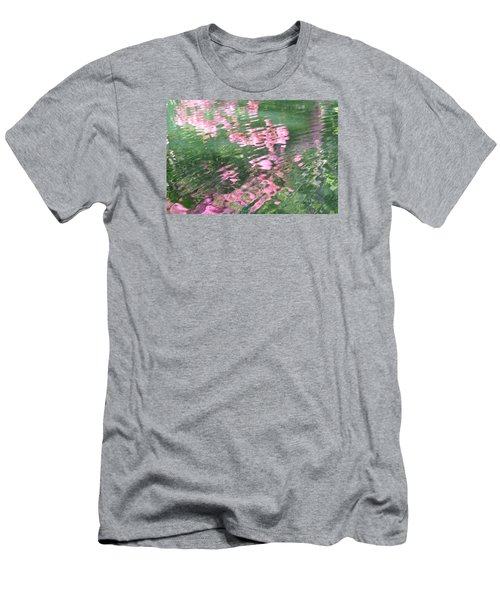 Men's T-Shirt (Slim Fit) featuring the photograph Rosey Ripples by Linda Geiger