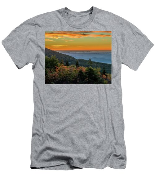 Rough Morning - Blue Ridge Parkway Sunrise Men's T-Shirt (Athletic Fit)