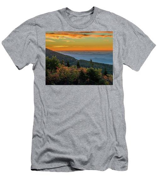 Rough Morning - Blue Ridge Parkway Sunrise Men's T-Shirt (Athletic Fit)
