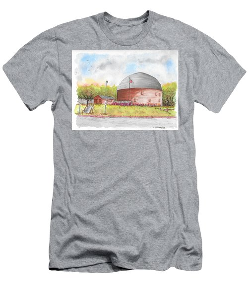 Round Barn In Route 66, Arcadia, Oklahoma Men's T-Shirt (Athletic Fit)