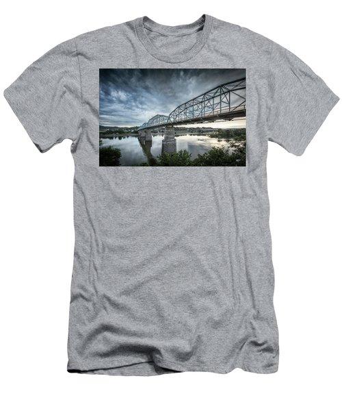 Rowing Under Walnut Street Men's T-Shirt (Slim Fit) by Steven Llorca