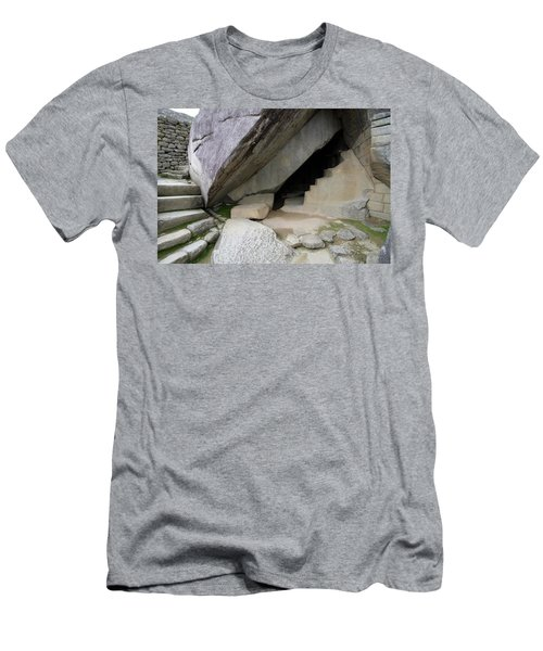 Men's T-Shirt (Slim Fit) featuring the photograph Royal Tomb, Machu Picchu, Peru by Aidan Moran