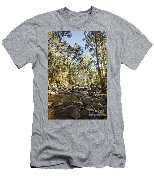Men's T-Shirt (Slim Fit) featuring the photograph Rubicon River by Linda Lees