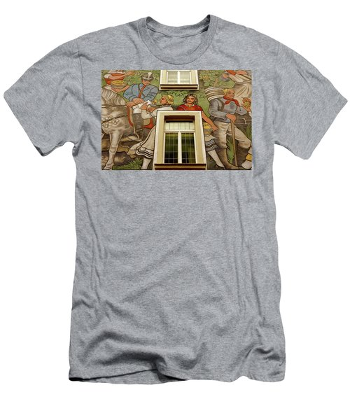 Men's T-Shirt (Slim Fit) featuring the photograph Rudesheim Mural by KG Thienemann