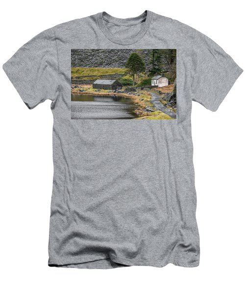 Men's T-Shirt (Slim Fit) featuring the photograph Ruins At Cwmorthin by Adrian Evans