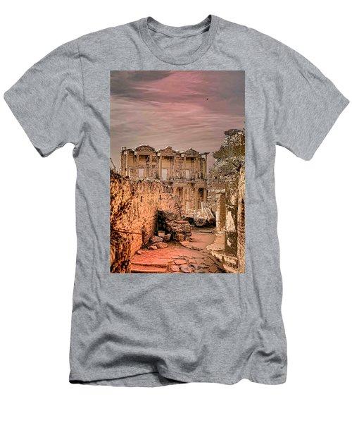 Ruins Of Ephesus Men's T-Shirt (Slim Fit) by Tom Prendergast