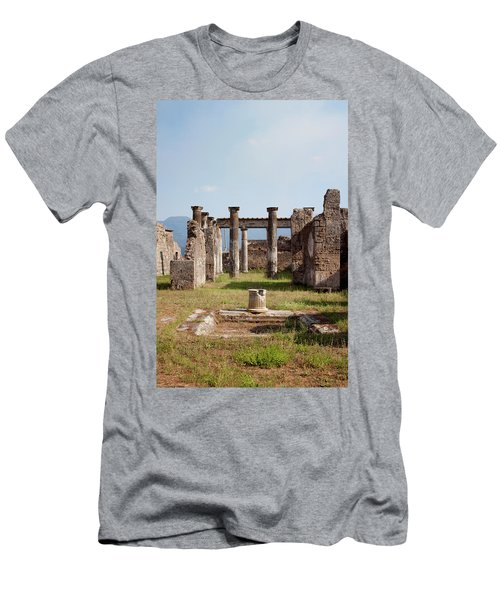 Ruins Of Pompeii Men's T-Shirt (Slim Fit) by Ivete Basso Photography