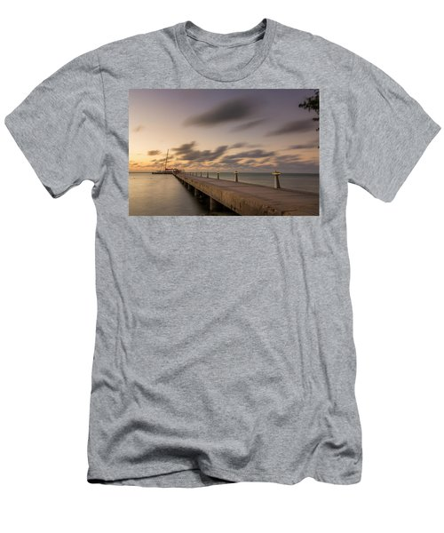 Men's T-Shirt (Athletic Fit) featuring the photograph Rum Point Grand Cayman At Dusk by Adam Romanowicz
