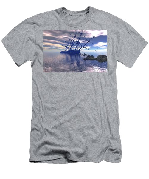 Men's T-Shirt (Slim Fit) featuring the digital art Run Aground by Claude McCoy