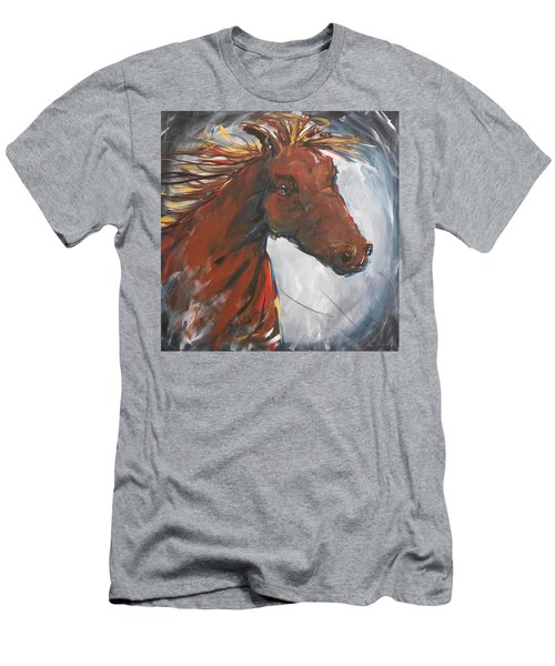 Run Like The Wind Men's T-Shirt (Slim Fit) by Terri Einer
