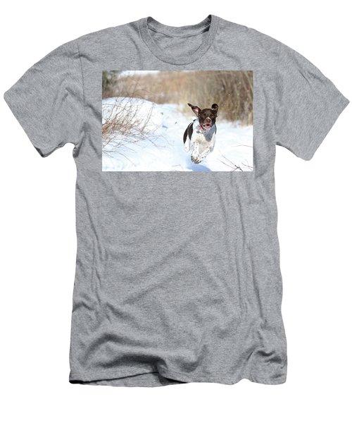 Run Millie Run Men's T-Shirt (Slim Fit) by Brook Burling