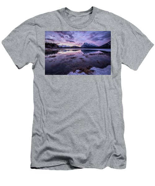 Rundle Mountain Skies Men's T-Shirt (Athletic Fit)