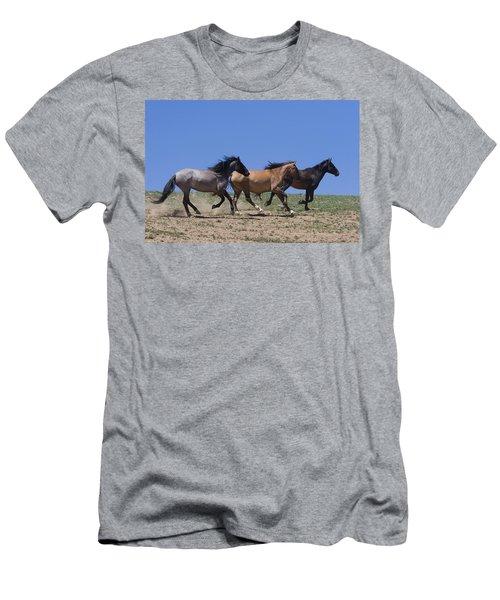 Running Free- Wild Horses Men's T-Shirt (Athletic Fit)