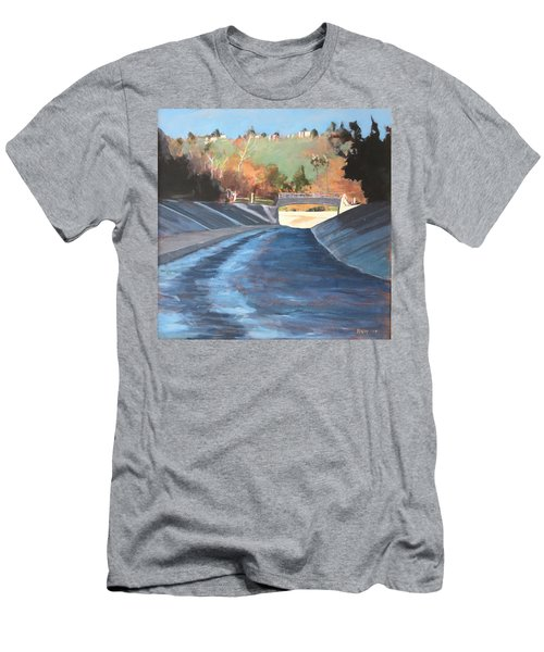 Running The Arroyo, Wet Men's T-Shirt (Athletic Fit)