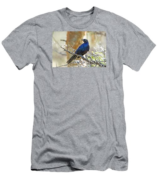 Men's T-Shirt (Slim Fit) featuring the photograph Ruppels Glossy Starling by Pravine Chester