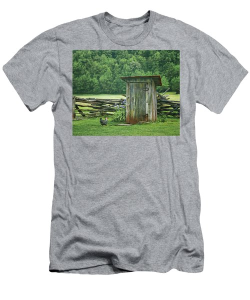 Rural Outhouse Men's T-Shirt (Athletic Fit)