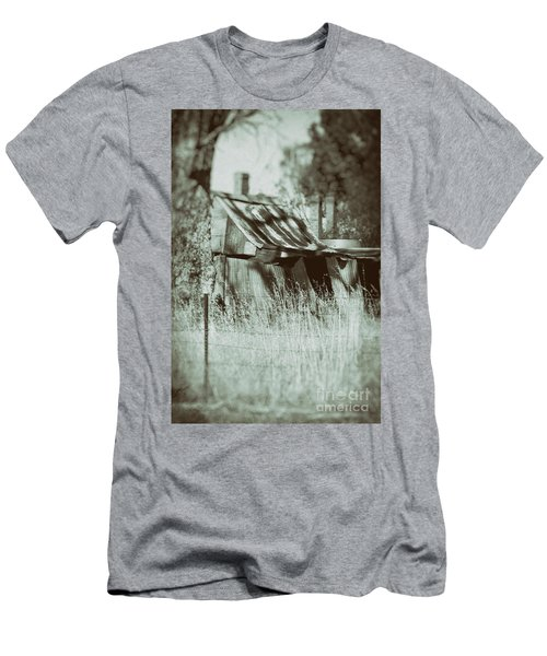 Men's T-Shirt (Athletic Fit) featuring the photograph Rural Reminiscence by Linda Lees