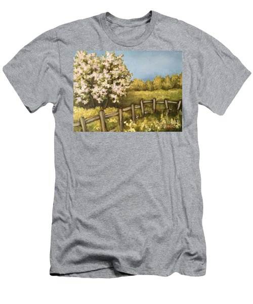Men's T-Shirt (Slim Fit) featuring the painting Rural Spring by Inese Poga