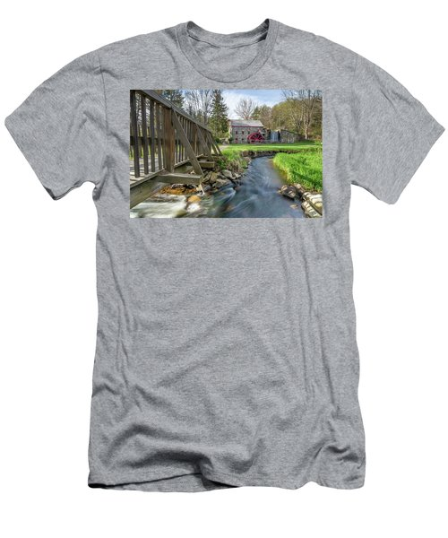 Rushing Water At The Grist Mill Men's T-Shirt (Athletic Fit)