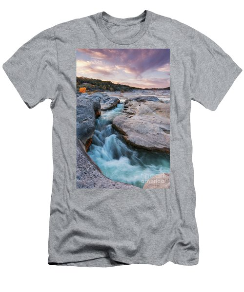 Rushing Waters At Pedernales Falls State Park - Texas Hill Country Men's T-Shirt (Athletic Fit)