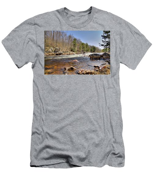 Men's T-Shirt (Slim Fit) featuring the photograph Rushing Waters Of The Moose River by David Patterson