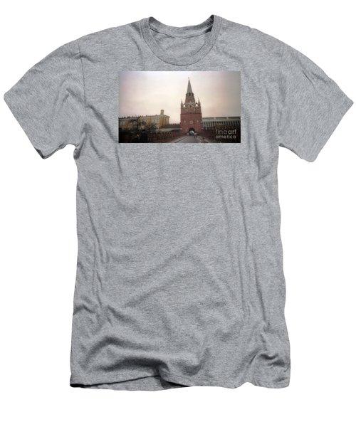 Russia Kremlin Entrance  Men's T-Shirt (Slim Fit) by Ted Pollard