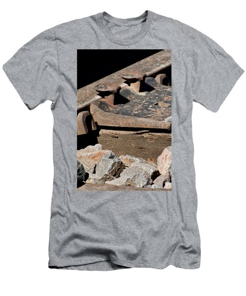 Rusted Rail Men's T-Shirt (Slim Fit) by Colleen Coccia