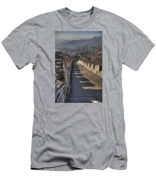 Men's T-Shirt (Slim Fit) featuring the photograph Rusti  Great Wall Hdr by Matthew Bamberg