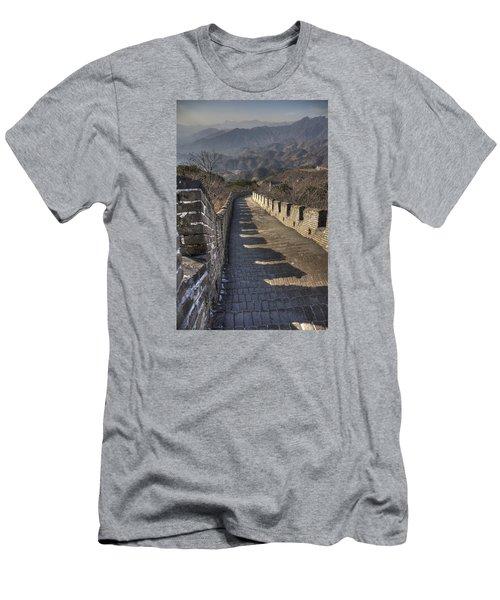 Rusti  Great Wall Hdr Men's T-Shirt (Slim Fit) by Matthew Bamberg