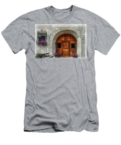 Rustic Front Door Men's T-Shirt (Slim Fit) by Hanny Heim