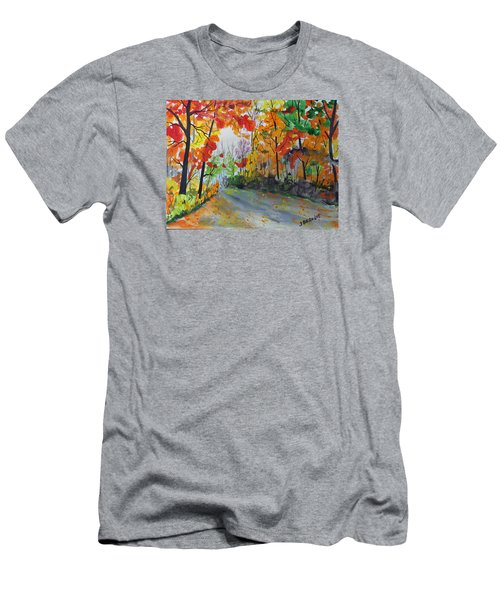 Rustic Road Men's T-Shirt (Slim Fit) by Jack G  Brauer