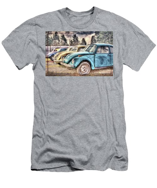 Men's T-Shirt (Slim Fit) featuring the photograph Rusty Bugs by Jean OKeeffe Macro Abundance Art