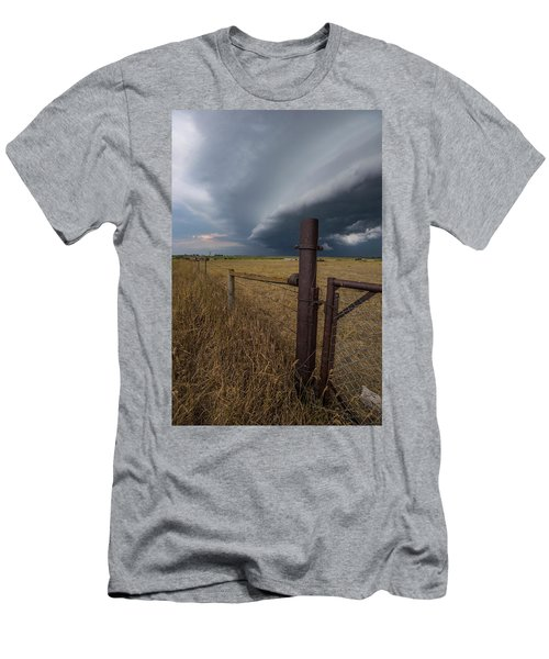 Men's T-Shirt (Athletic Fit) featuring the photograph Rusty Cage  by Aaron J Groen