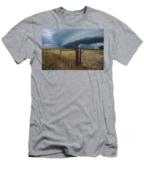 Men's T-Shirt (Athletic Fit) featuring the photograph Rusty Cage Horizontal  by Aaron J Groen
