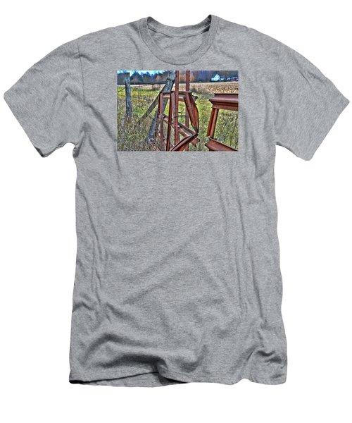 Rusty Gate Men's T-Shirt (Slim Fit) by Pat Cook