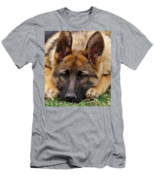 Sable German Shepherd Puppy Men's T-Shirt (Athletic Fit)