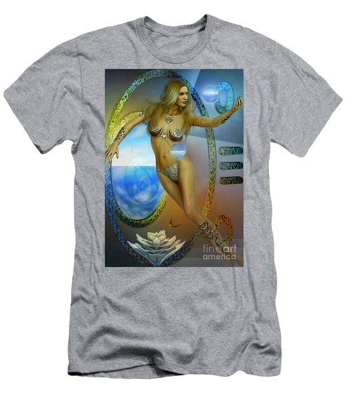 Men's T-Shirt (Slim Fit) featuring the digital art Sacred Feminine by Shadowlea Is