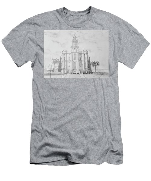 Sacred Steps - St. George Temple Men's T-Shirt (Athletic Fit)
