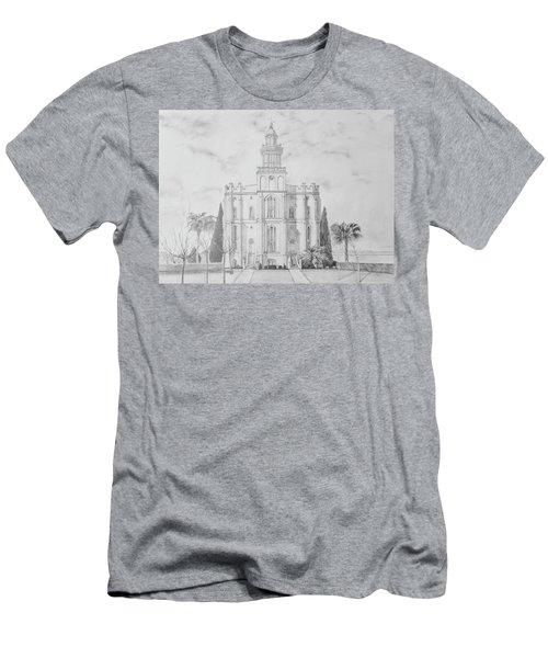 Sacred Steps - St. George Temple Men's T-Shirt (Athletic Fit)