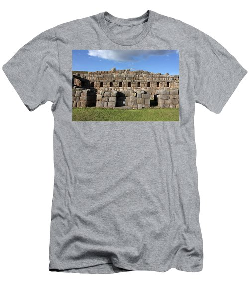 Men's T-Shirt (Slim Fit) featuring the photograph Sacsaywaman Cusco, Peru by Aidan Moran